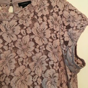 Halogen Tops - Lace Flutter Top